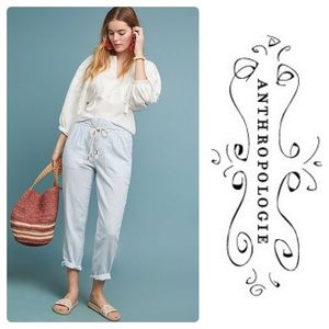New Anthropologie Cruise Pants Sky Striped
